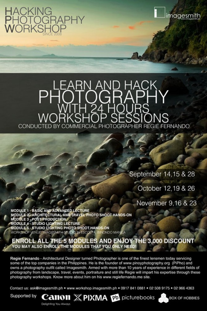 Hacking Photography Workshop is back!