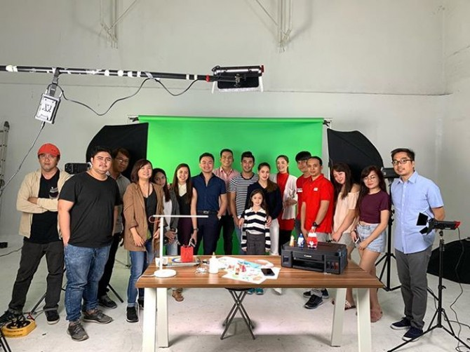 Our video shoot for @canonphils PIXMA #today  #imagesmithph #pixma #canon #videoshoot #video #philippines #makati #manila #videoproduction #production