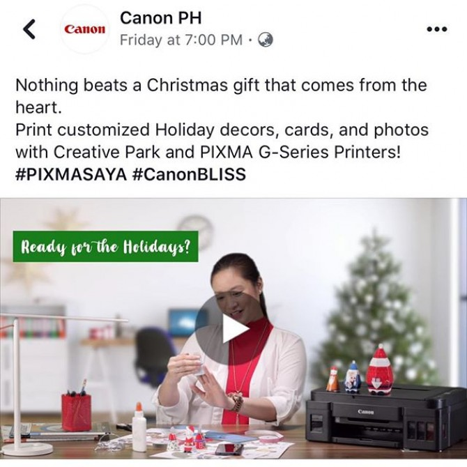 Our latest work for @canonphils PIXMA. Visit their FB page at www.fb.com/canonphils to watch it.