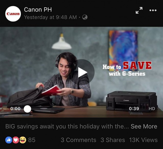 Our 3rd work for @canonphils holiday videos. Direction, shooting and post-production and complete production by the #imagesmithPh team  https://www.facebook.com/436747099708715/posts/2130833926966682/  #canonph #pixma #printer #promovideo #videoshoot