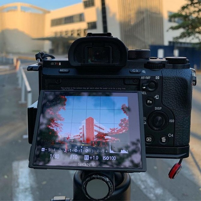 Warm up shot this morning #architectural #ateneo . #photoshoot #architecture #architecturephotography #imagesmithph #manila #philippines #bts #behindthescenes
