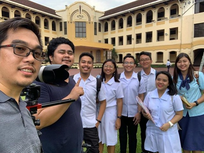 Thanks for the heartfelt stories #PNU students. This is our day 1 of video shoot for an embassy scholar program.  #imagesmithph #work #shoot #videoshoot #videoproduction #manila #philippines