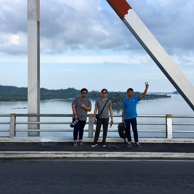Tres amigos in San Juanico bridge  #imagesmithph #video #videoshoot #videoproduction #bts #leyte #visayas