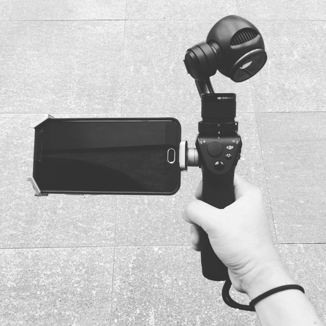 Our Ronin is on rest day today. OSMO will take charge.  #imagesmithph #osmo #gimbal #gear #work #camera #4k #videoshoot #dji #bw #mono #blackandwhite