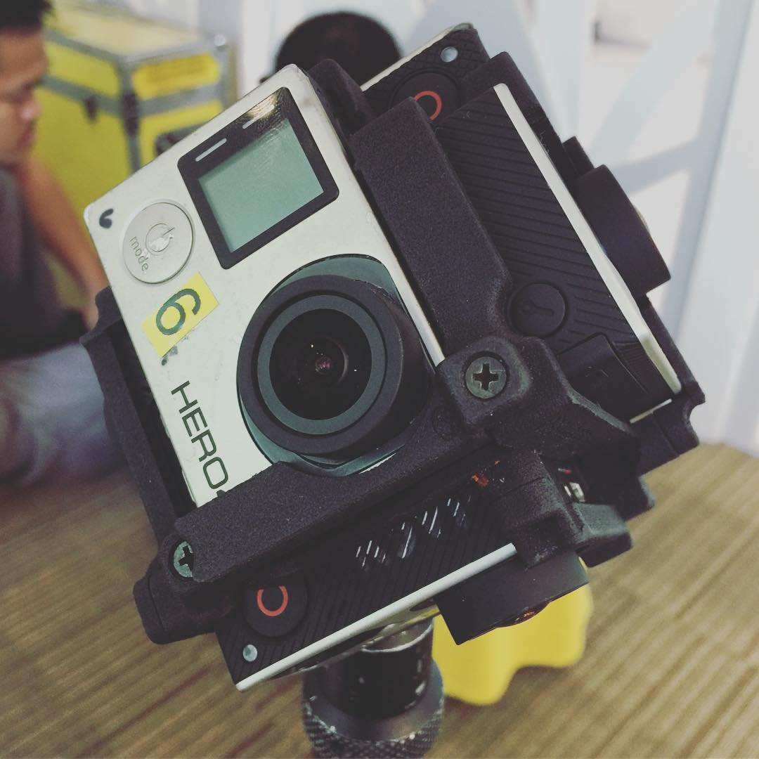 We have an awesome 360 rig today for our 360 VR shoot. Its the #freedom360 a 6 GoPro setup rig! 👌🏼 #work #video #architecture #architectural #360vr #vr #imagesmithPH