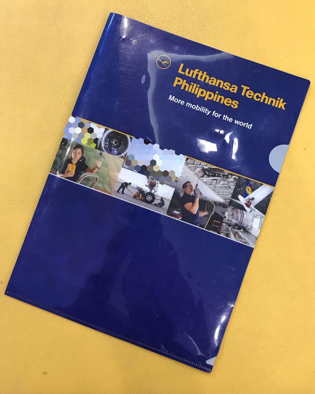 Bump into some of our old output shots printed on a plastic folder while shooting here at the same company.  #work #commercial #photography #photoshoot #shoot #photo #asia #manila #philippines #lufthansa #imagesmithph #bts #behindthescenes #lufthansa #corporate