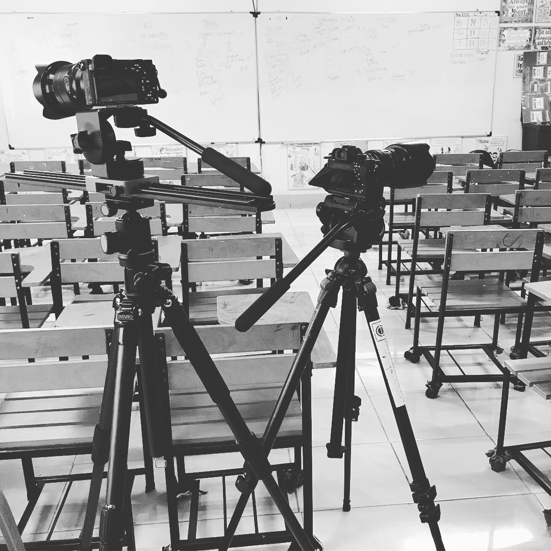 The Brothers went schooling today. We are shooting a semi docu interviews in this school for our corp client.  #work #video #videoshoot #docu #bts #behindthescenes #corporate #videography #imagesmithph