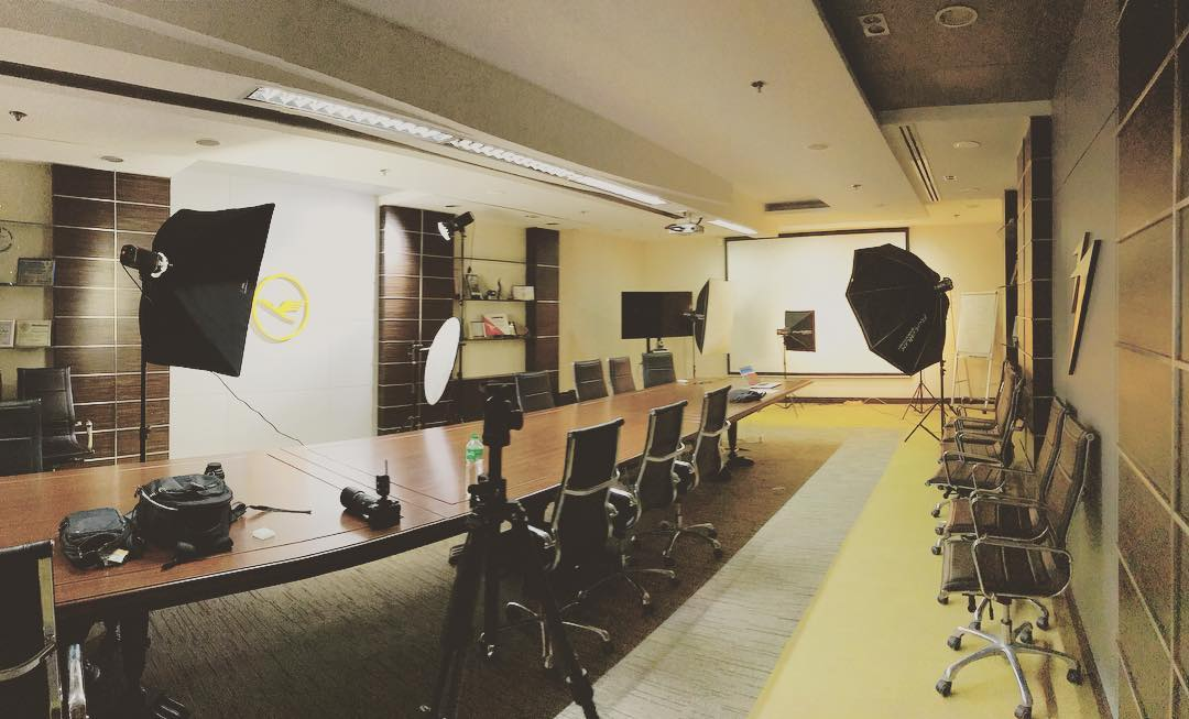 It saves us time to shoot 20 head shots. #today #photoshoot #studio #portrait #bts #lighting #setup #lufthansa #behindthescenes #imagesmithph ... & We almost brought all our equipment for this 2 variation of ...