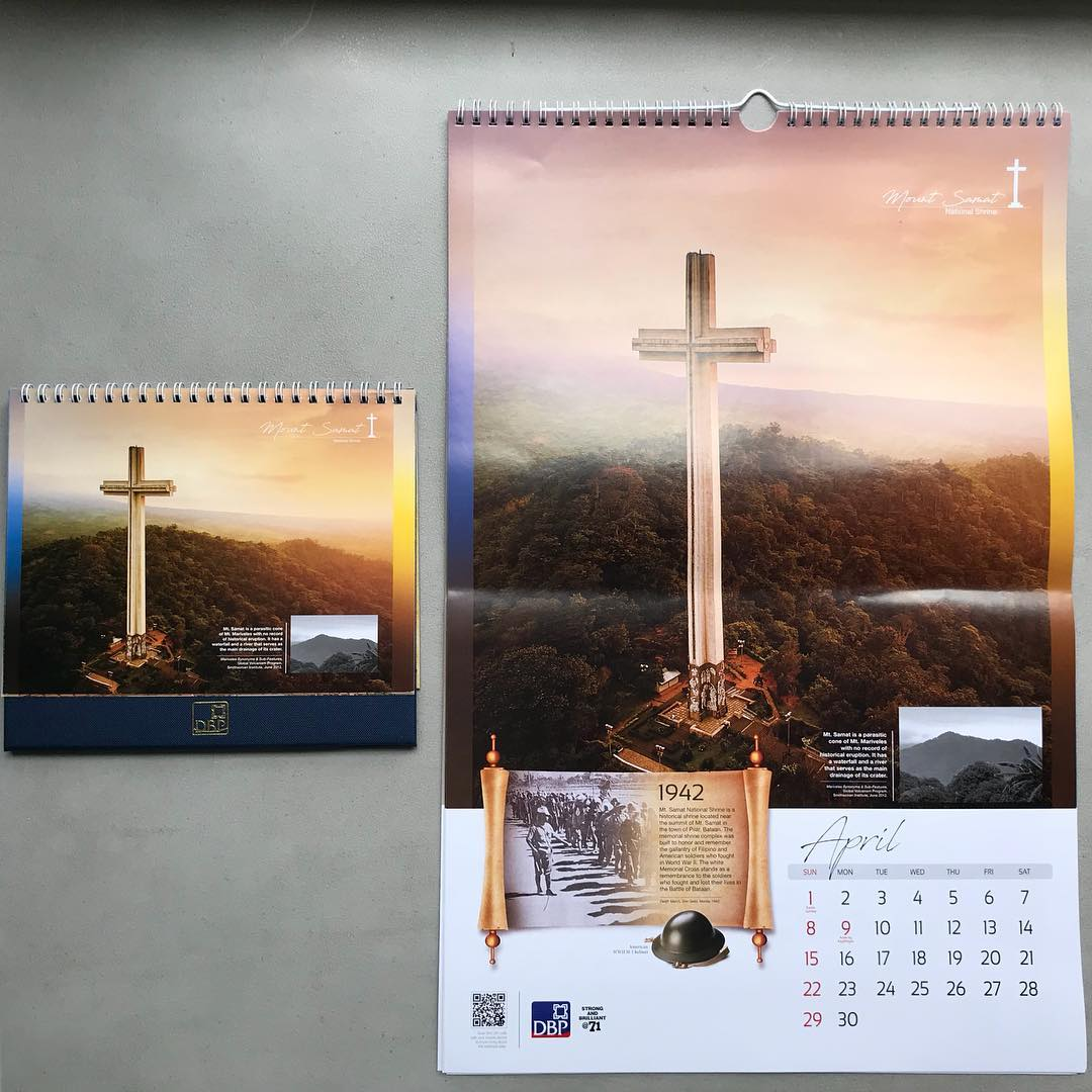 .@tekgik's Mt. Samat #aerialdrone shot on DBP's 2018 calendar.  #calendar #photography #dronephotography #imageamithph #stockphoto #drone #philippines #asia #print #imagesmithph #2018