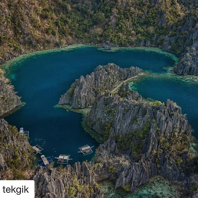 An awesome shot of Twin Lagoon in #Coron by <a href=